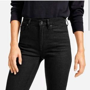 Everlane High Rise Black Skinny Jeans
